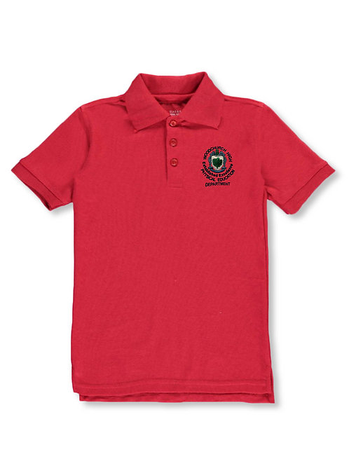 Red PE Polo with Woodchurch Logo (Girls)