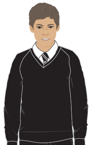 Black V-Neck Knitted Jumper