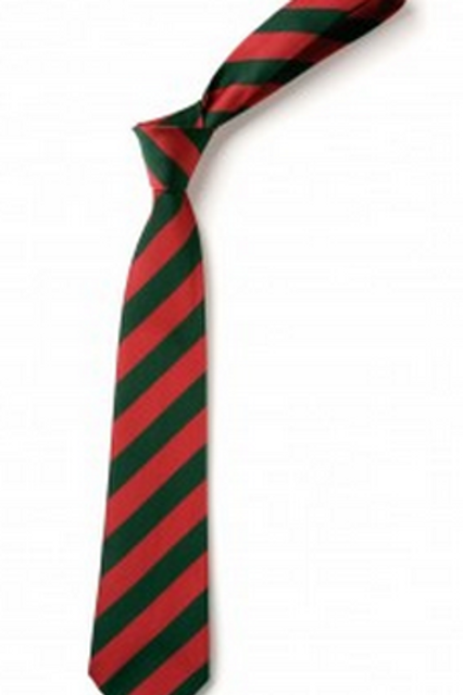 Red and Green Striped Tie (No. 5)