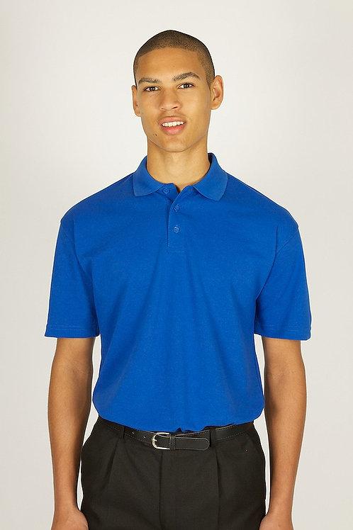Plain Bright Blue Trutex Polo