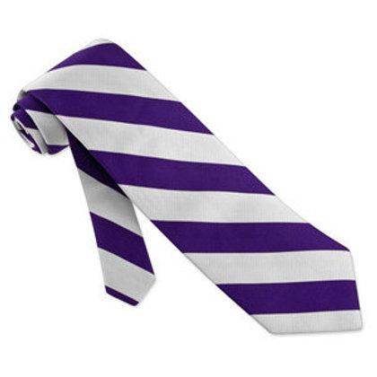 Purple and White Striped Tie (No.17)