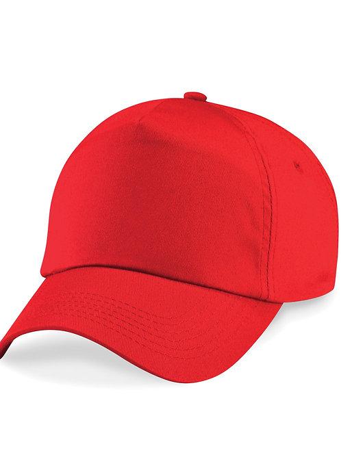 Bright Red Beechfield Baseball Cap