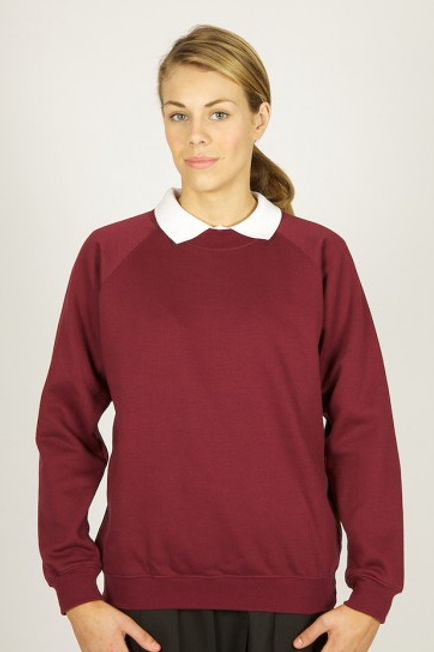 Maroon Sweatshirt with Sacred Heart Logo