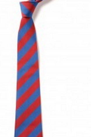 Red and Sky Striped Tie (No.17.5)