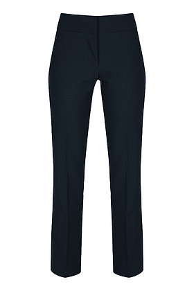 Girls Navy Slim-Fit Trousers