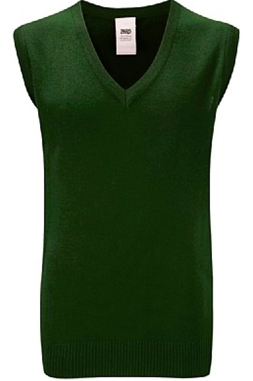 Green Knitted Tank Top with St Andrews Logo
