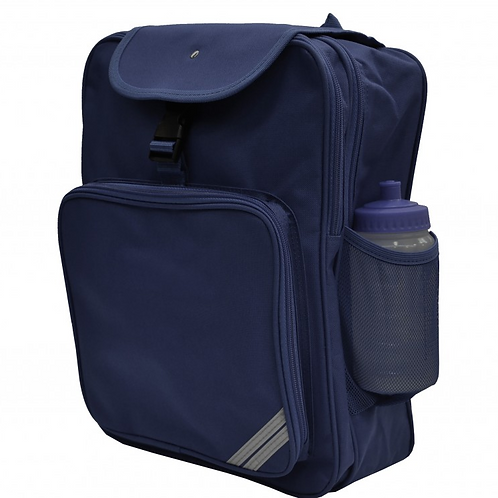 Large Navy Rucksack with Green Meadow logo