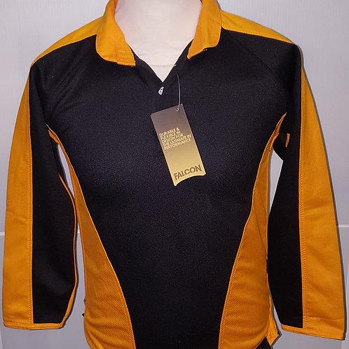 Black/Orange Rugby Top