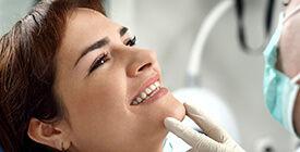 woman getting a dental exam