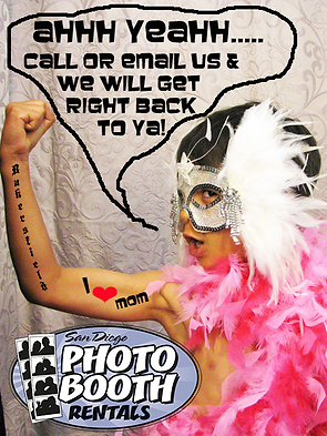 Contact this stud at San Diego Photo Booth Rentals. Call us to book your event 858-375-4111.