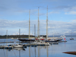 Oban North Pier Pontoons with yachts