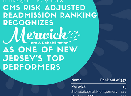 Risk Adjusted Readmission Ranking Recognizes Merwick as Top Performer