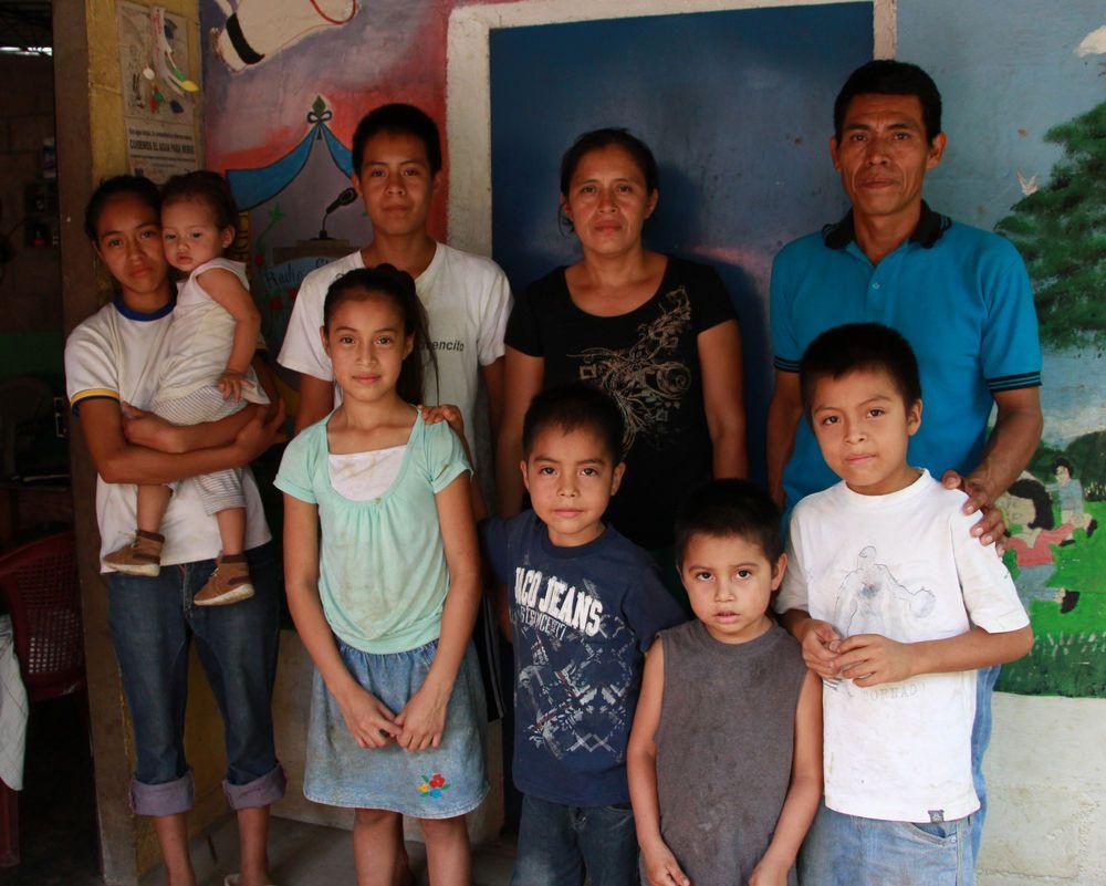 Gloria com sua família