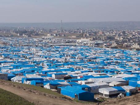 Distribuição de alimentos no Curdistão