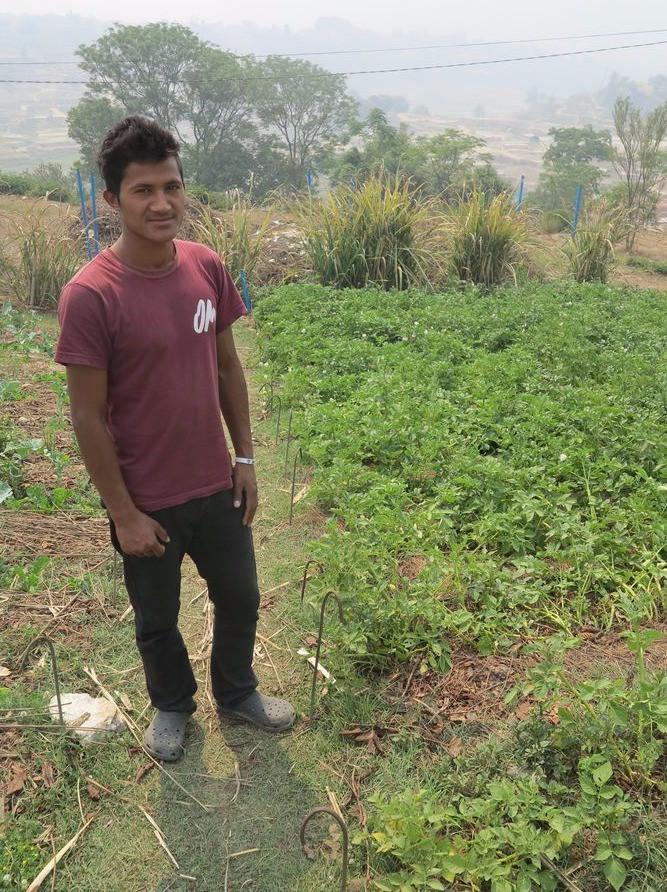 Ugel, um aluno da Fazenda Shiloh