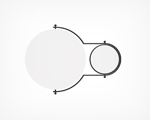 Orbit Mirror- Black Front