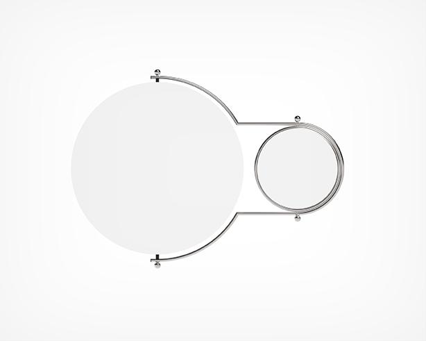 Orbit Mirror- Chrome Front