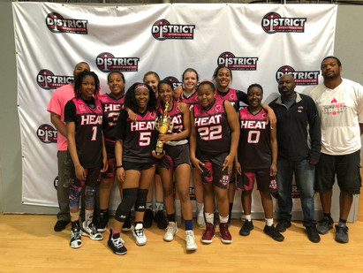 SMD HEAT Girls 17U win 2nd Place