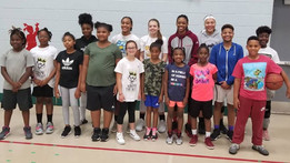 University of Massachusetts guard Jessica George Speaks to SMD HEAT Players