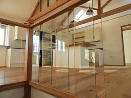 Hand Crafted Solid Oak and Glass Stair Cases