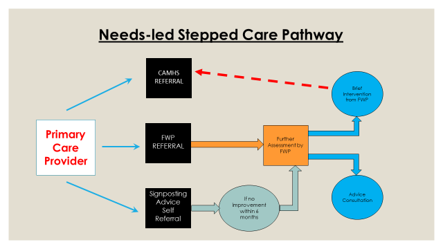 Needs-led stepped care pathway