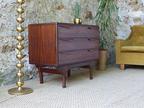 Commode scandinave palissandre de Rio vintage - commode coiffeuse scandinave
