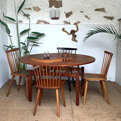 Table scandinave teck modulable vintage Folke Ohlsson