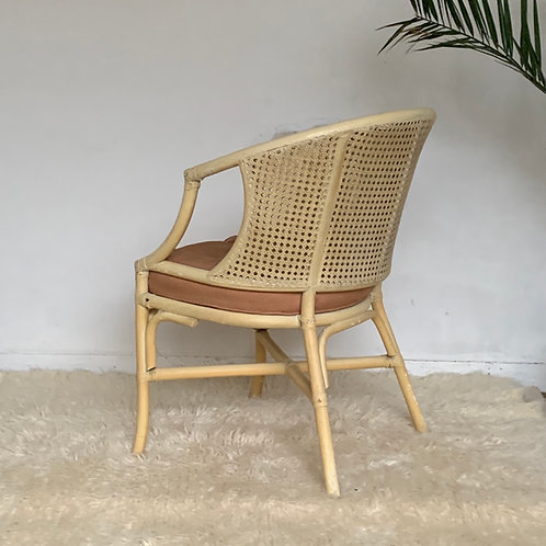 Chaise  vintage rotin et cannage
