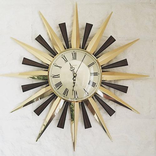 Horloge mural vintage soleil