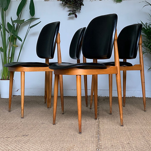 Chaises vintage de Pierre Guariche modèle Pégase - lot de 4