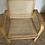 Thumbnail: Chaise  fauteuil vintage en cannage