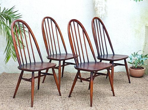 Chaises Ercol vintage - les 4