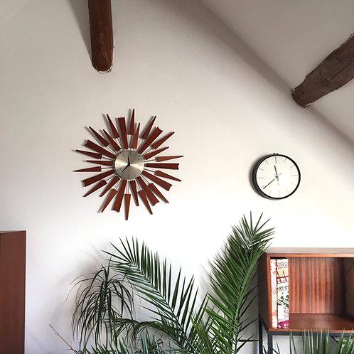 Horloge murale vintage soleil