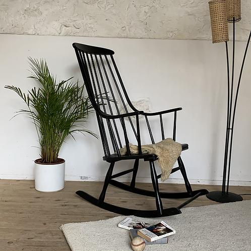 Rocking-chair scandinave vintage Lena Larsson