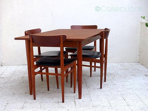 Table scandinave vintage en teck massif
