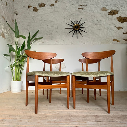 Chaises vintage style scandinave