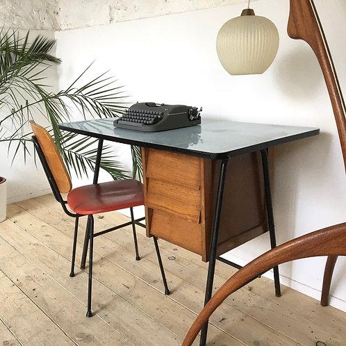 Bureau vintage moderniste pied compas