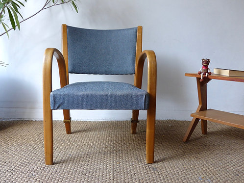 Fauteuil vintage Steiner bow-wood