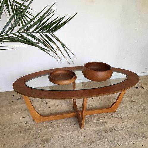 RÉSERVÉ  Table basse vintage style Astro teck
