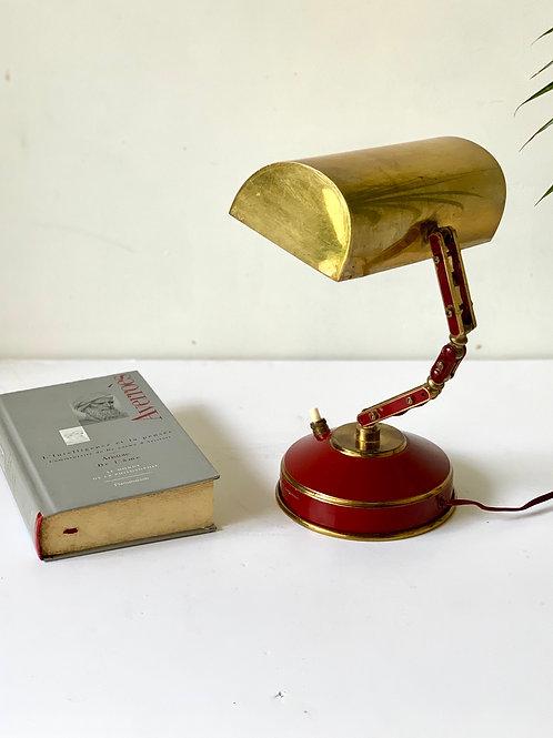 Lampe articulée en laiton vintage 1950