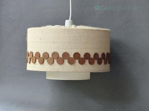 Suspension lin et teck style scandinave