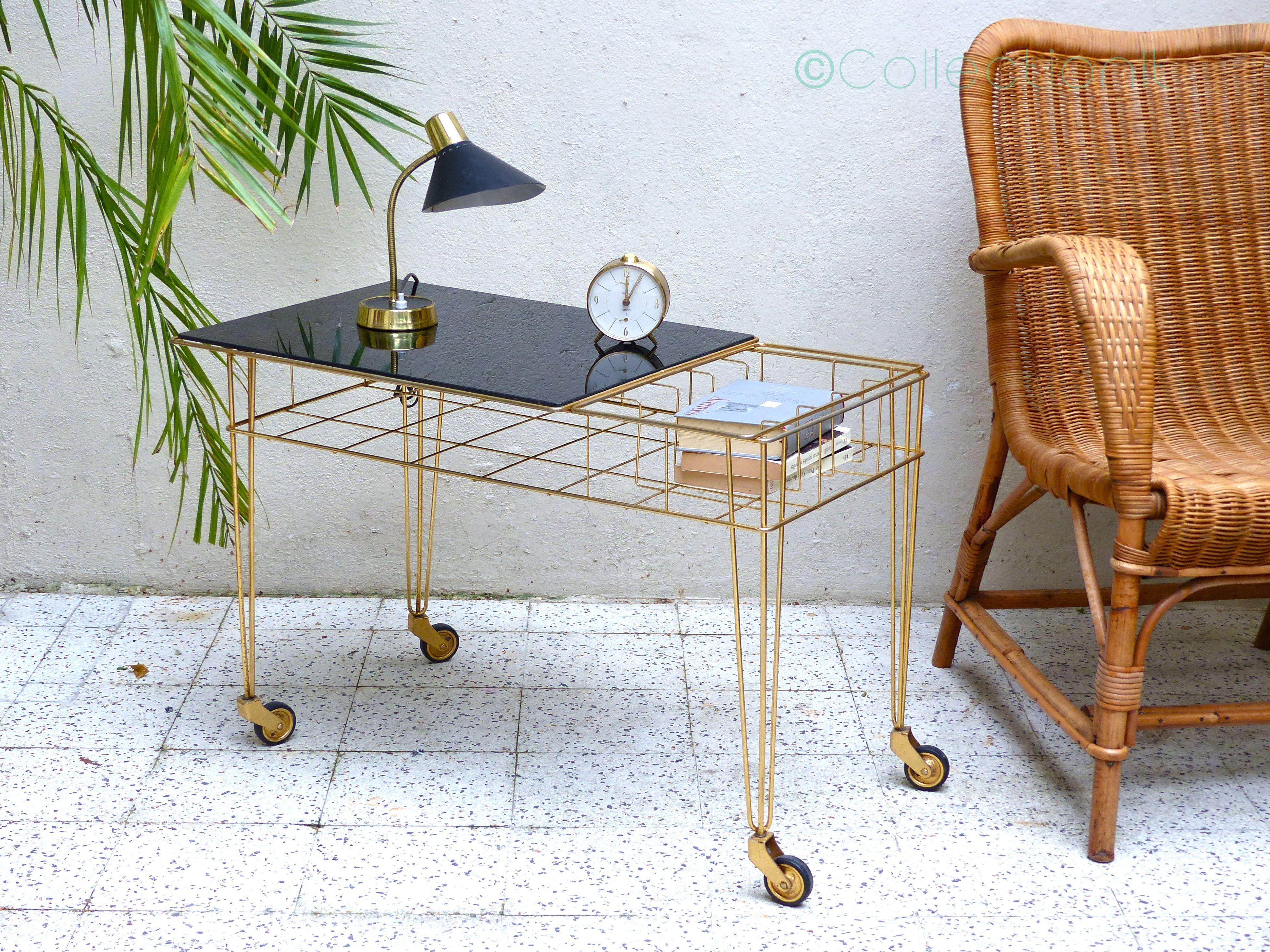 table_porte-revue_doré_vintage__2
