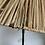 Thumbnail: Lampadaire vintage tripode abat-jour rafia
