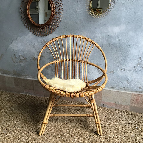 Fauteuil Rotin Vintage Fauteuil Corbeille Rotin Collectionit