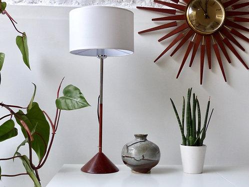 Lampe à poser en bois vintage