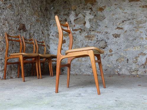 Chaises scandinaves vintage - lot de 4