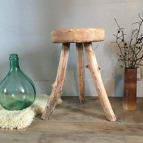 Tabouret tripode vintage - tabourets rustique