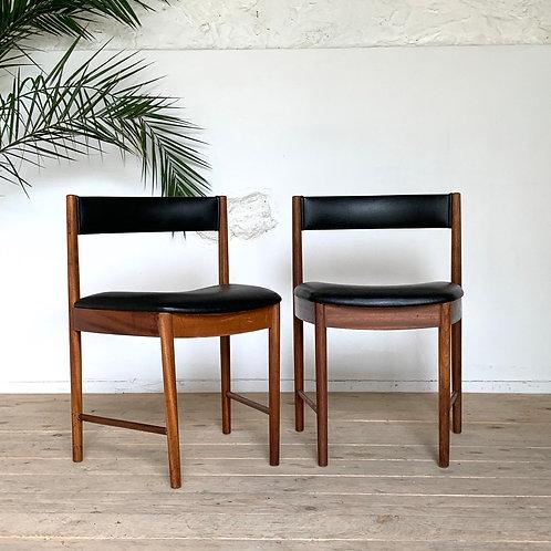 Chaises vintage en teck style scandinave - la paire