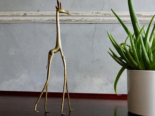 Girafe en laiton - Statuette laiton
