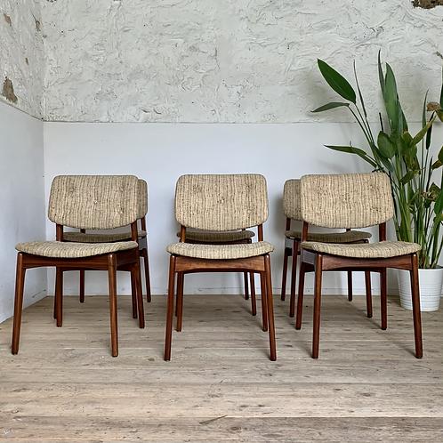 Chaises vintage scandinave en teck - lot de 6